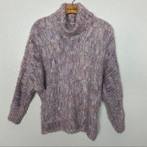 American Rag pink colorful knit turtleneck sweater